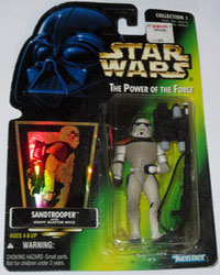 Star Wars: The Power of the Force: Sandtrooper with Heavy Blaster Rifle Figure (NEW)